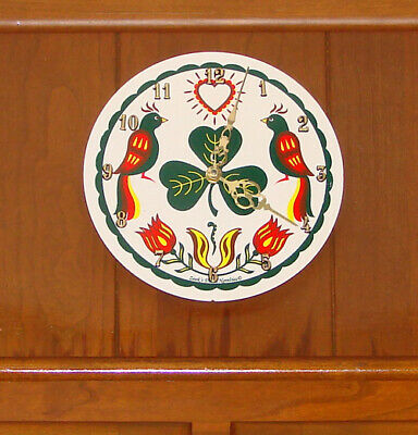 """8"""" Zook's Hex Sign Clocks Your Choice Of Patterns Very Nice Indoor Use USA Made"""