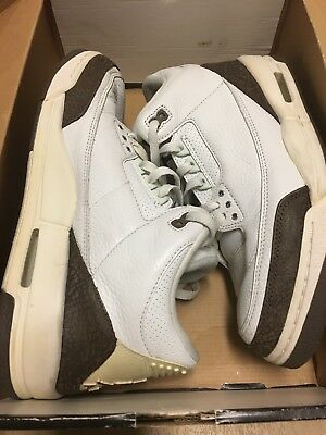 3579d7c259b Nike Air Jordan 3 III Retro White / Dark Mocha Size 11 136064 121 With Box