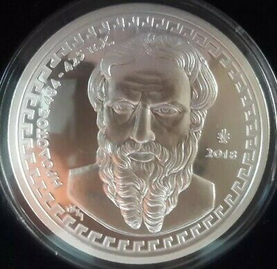 Best price🅰 New SILVER Proof 🅰️ Greece HERODOTUS 10 Euro 2018 🅰️ GRECE GRECIA