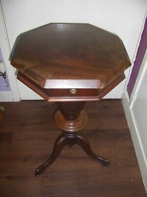 Victorian trumpet shaped work table /sewing box