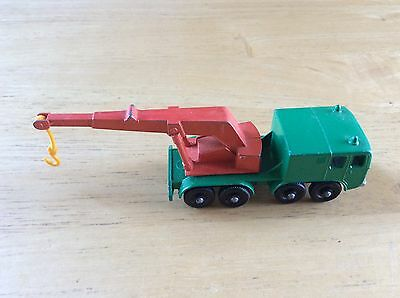 Vintage Lesney Matchbox Red & Green 8 WHEEL CRANE No. 30