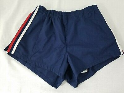 1970's JANTZEN Men's 36 Red White & Blue Swimming Trunks Shorts Suit!