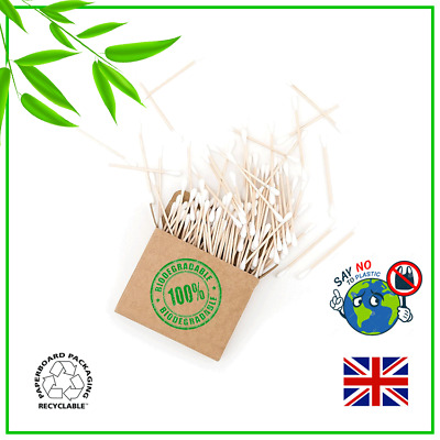 Bamboo Wooden Cotton Buds Swabs Vegan Eco Friendly Biodegradable Plastic Free Uk