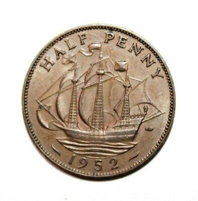 KM# 868 - Half Penny - George VI - Great Britain 1952 (XF)
