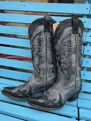ecb07ce9bd1 CORRAL BOOTS WOMEN'S 7 M Black Eagle Inlay Leather Western Cowgirl Boots  R1003