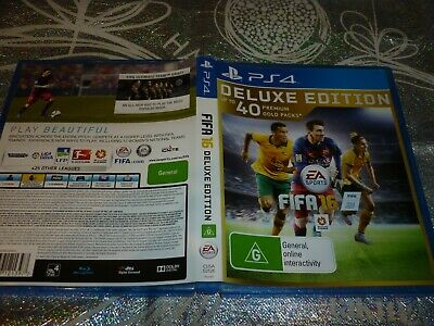 Fifa 16 Deluxe Edition (Sony Ps4 Game, G) (P146103-5 A)