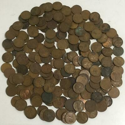 Unsearched bag of wheat penny 1909 1939 PDS teens twentys thirties 250 cents
