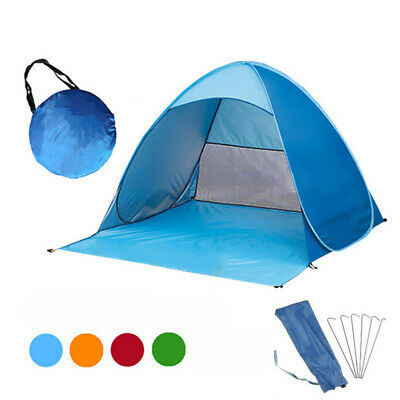 Pop Up Beach Tent Sun Shade Shelter Outdoor Camping Fishing Canopy 2-3 People F