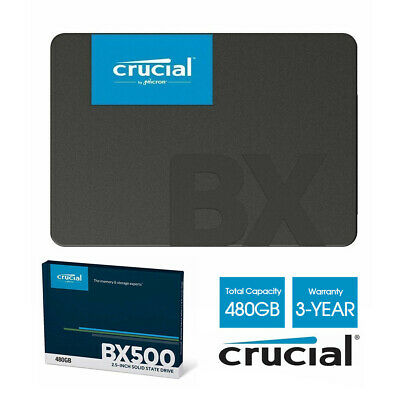 """Crucial 480GB 2.5"""" SSD SATA Internal Solid State Drive BX500 540Mbs 3Years Wty"""