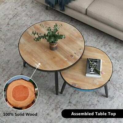 Stupendous End Table Round Solid Wood Drum Style Door Vintage Storage Beutiful Home Inspiration Ommitmahrainfo