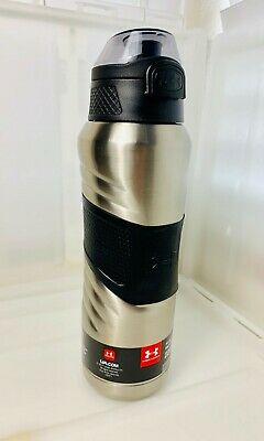 5e7c8392ec Under Armour Dominate 24 Ounce Vacuum Insulated Bottle, Stainless Steel