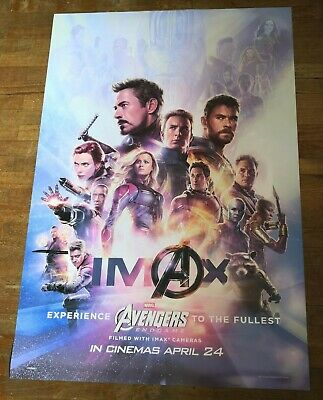 Marvel Avengers ENDGAME 2019 Original IMAX 27x40 Double Sided Int'l Movie Poster