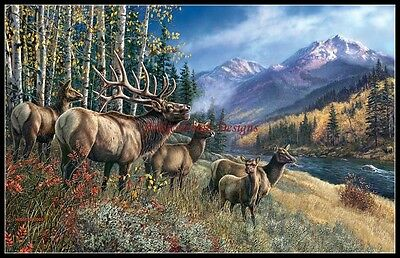 Elk Anthem - DIY Chart Counted Cross Stitch Patterns Needlework for Embroidery