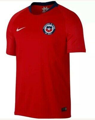 43b51bbadb8 NIKE Men's CHILE HOME WORLD CUP 2018/19 Soccer JERSEY 893860-673 Sz Large