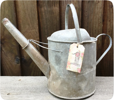 Galvanised Watering Can - Vintage - Aged - Garden Floral Allotment Prop