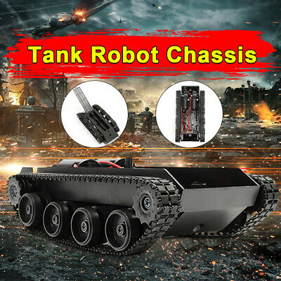 Light Shock Absorbed Smart Robot Tank Chassis Car +130 Motor For Arduino SCM
