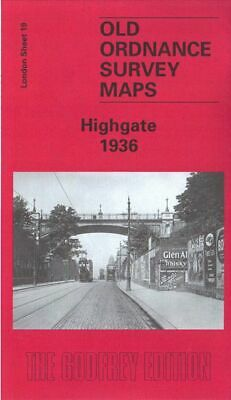 Old Ordnance Survey Map Highgate 1936 Archway Road Hampstead Lane Crouch End