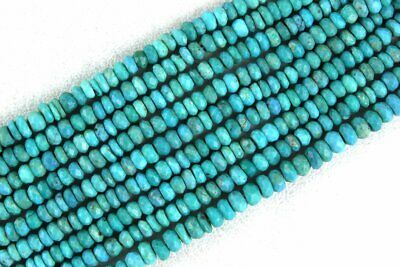 Good Quality Natural Arizona Turquoise Rondelle Faceted Bead 4 MM Wholesale Rate