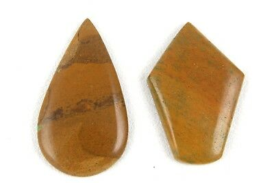 2 Pcs Natural Mookaite Jasper Cabochon Gemstone Mix Shape Smooth Cabs Wholesale