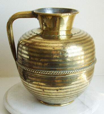 Large Antique Brass Urn / Jug Planter 26cm Tall