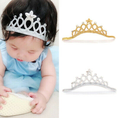 Kids Gold Silver Princess Headband Baby Hair Band Crown Tiara Toddler Girls