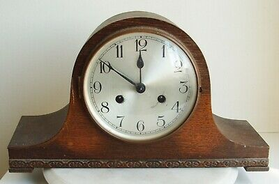 Antique Mantle Clock Napoleon Hat With Key and Striking Mechanism