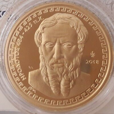 Best price 🅰  New GOLD proof 🅰️ GREECE 200 Euro 2018 HERODOTUS 🅰️ GRECE