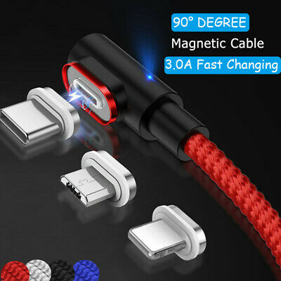 1~2M Type C Micro Lightning 3A Fast Magnetic Charger Charging Cable For Samsung