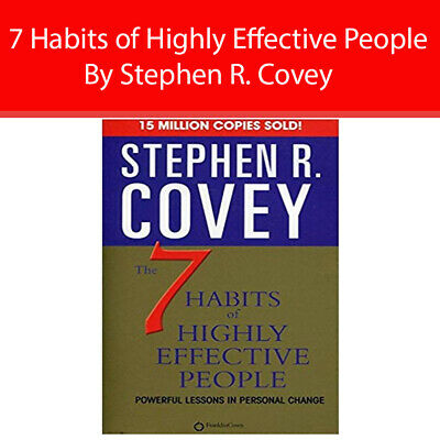 7 Habits of Highly Effective People By Stephen R. Covey Paperback NEW