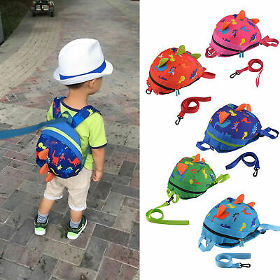 Cartoon Baby Toddler Kids Dinosaur Safety Harness Strap Bag Backpack with Reins