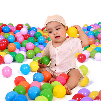 100x Colorful Soft Plastic Ocean Water Pool Ball Funny Baby Kid Swim Pit Toys
