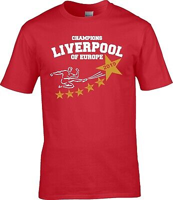 Liverpool UEFA Champions LEAGUE CUP FINAL 2019 WINNERS Years T SHIRT S - 5XL