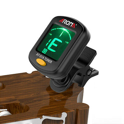 1PC LCD Electronic Clip-on Guitar Tuner Picker For Chromatic Violin Ukulele