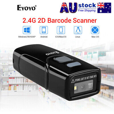 Eyoyo 2.4G Wireless Bluetooth 2D Barcode Scanner Reader for IOS Android PC Win