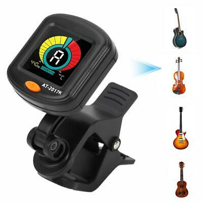 Chromatic Clip-on Guitar Tuner Violin Ukulele Bass Electronic Digital Metronome
