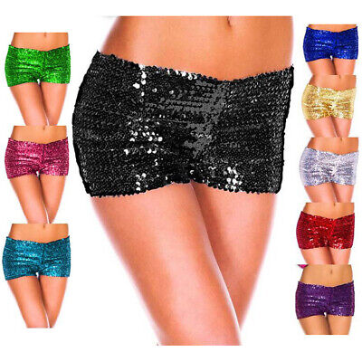 Woman Sequin Outdoor Shorts Casual Trousers Dancing Party Pants Leggings Summer