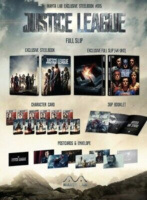 Justice League 4K + 2D Blu-Ray Exclusive Steelbook Mantalab Full Slip Edition