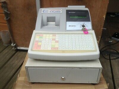SHARP XE-A213 Electronic Cash Register With Till Rolls With Free P&P