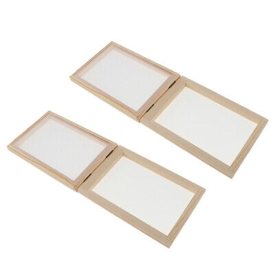 Wooden Paper Making Mould Frame Screen for Paper DIY Creative Arts Craft Kit