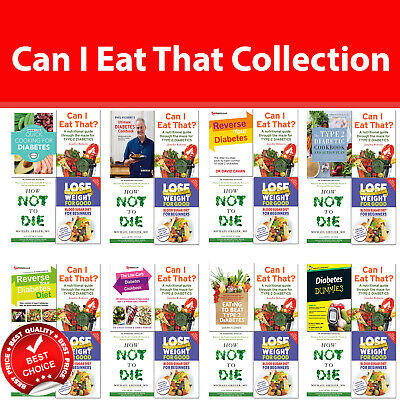 Low-Carb Diabetes Cookbook books set Can I Eat That, Reverse Your Diabetes Diet