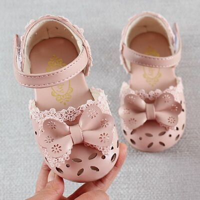 Children Sandals For Girls Toddler Baby Bow Rubber Kids Shoes Fashion Leathers