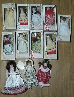 LOT of 12 BOXED! GORHAM Porcelain  DOLLS Doll of Month & Storybook CHRISTMAS