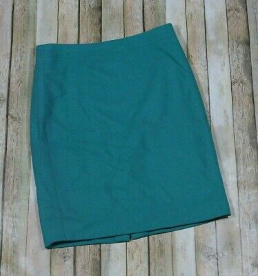 3d631ed3cc J. Crew Pencil Skirt in Double-Serge Wool Womens Size 6 Green 46575 Career