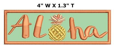 Aloha Hawaii Embroidered Patch Iron / Sew-On Souvenir Explore National Parks