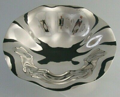 STUNNING LARGE ART NOUVEAU STERLING SILVER FRUIT BOWL 1907 ANTIQUE ENGLISH 535g