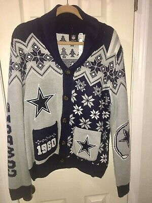 reputable site fbfb9 3f936 DALLAS COWBOYS UGLY Christmas Sweater Men's Large NFL ...