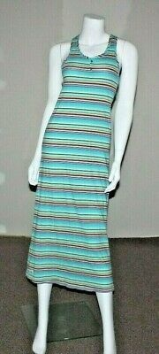 RALPH LAUREN Girls Blue Striped Cotton Dress Size XL 16