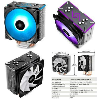 GAMMAXX GT BK CPU Air Cooler SYNC RGB Fan And RGB Black Top Cover Cable Or  Mothe