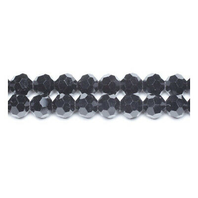 Black Czech Crystal Glass Faceted Round Beads 8mm 70+  Pcs Art Hobby Jewellery