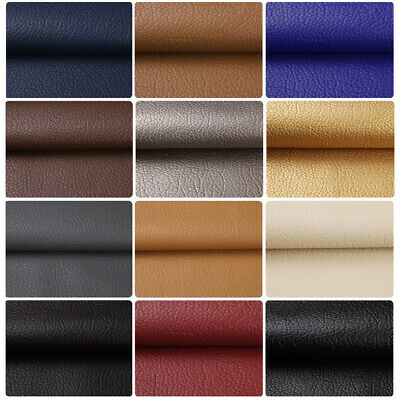 "5/10 Yards 54""W Vinyl Faux Leather Fabric Auto Upholstery Marine Pleather Fabric"